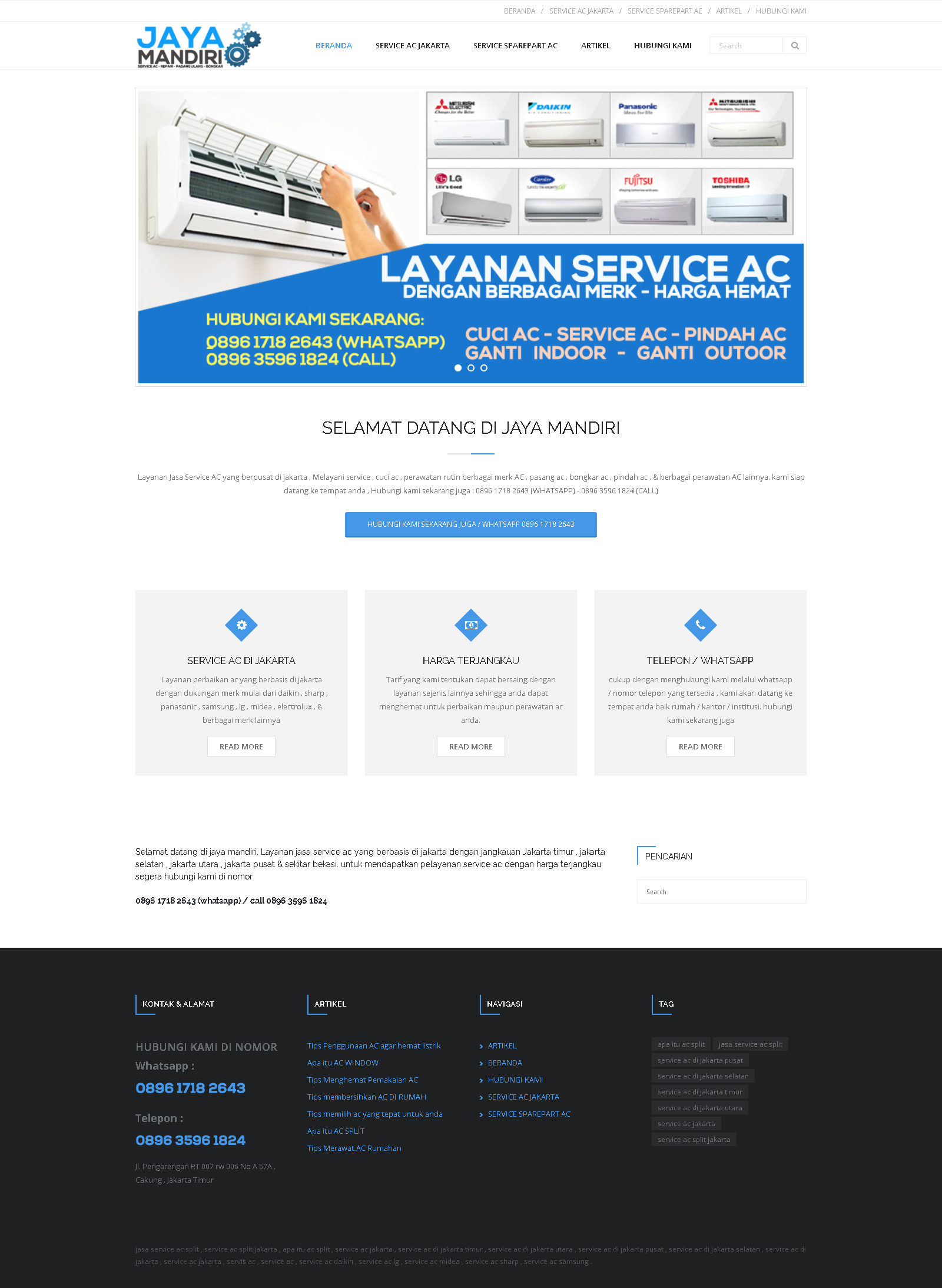jasa website service ac