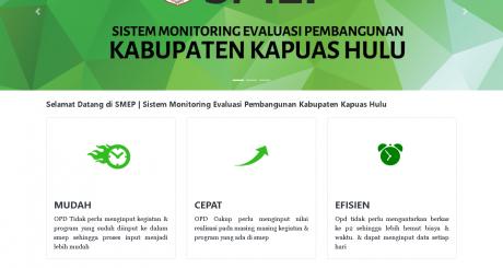 Aplikasi monitoring evaluasi Pembangunan