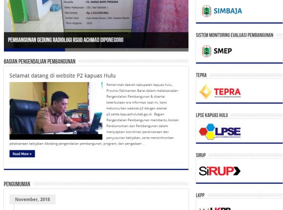 website p2 kabupaten kapuas hulu