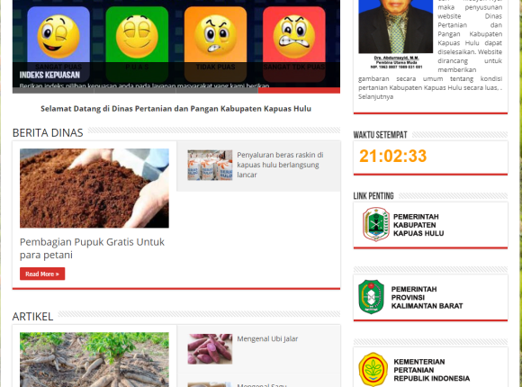 Website dinas pertanian kabupaten kapuas hulu