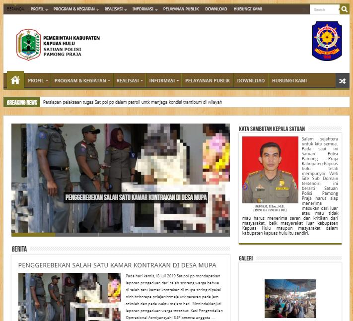 website satpol pp