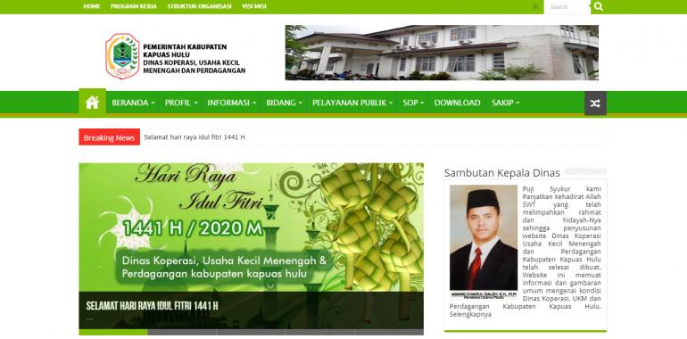 Pembuatan Website Dinas Pemerintah