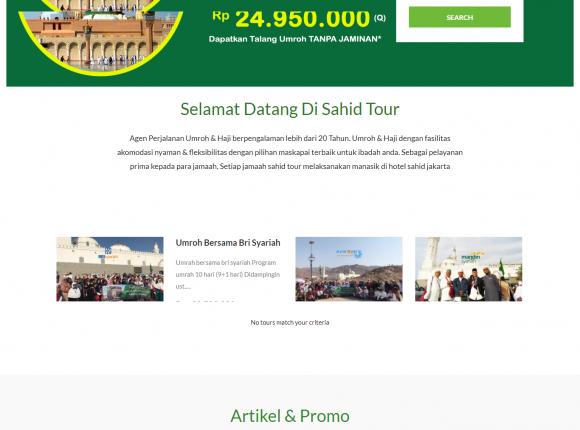 Website travel umroh & haji